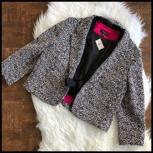 Ann Taylor Sz 10 Cropped Tie Front Blazer NWT